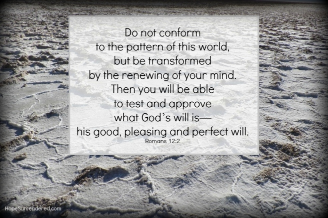 Romans 12:2.Pattern from Death Valley