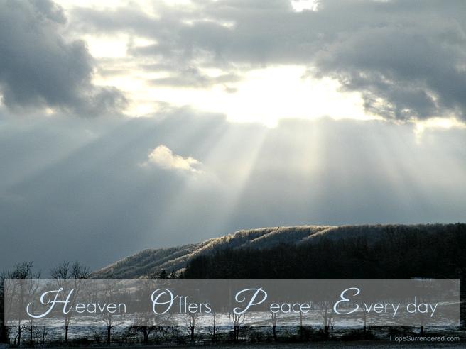 HeavenOffersPeaceEvery day